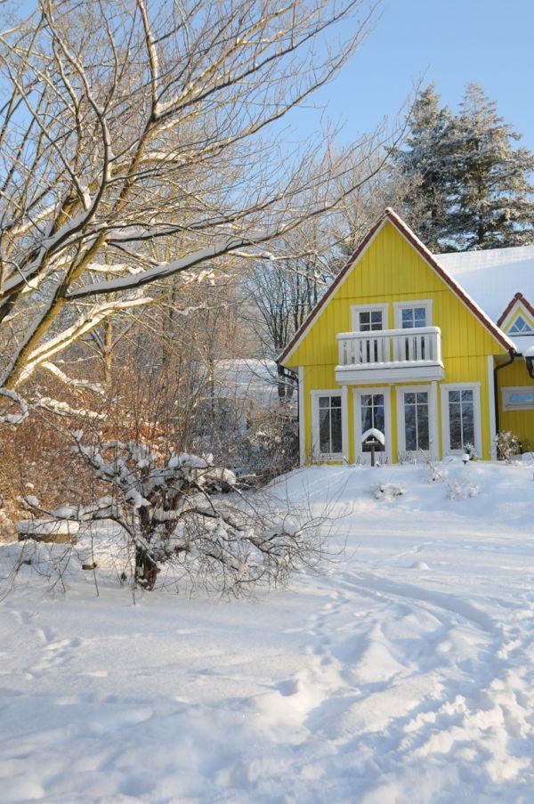 Winter im Ferienhaus am Dieksee