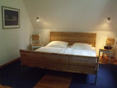Schlafzimmer im Schwedenhaus am See in Ostholstein