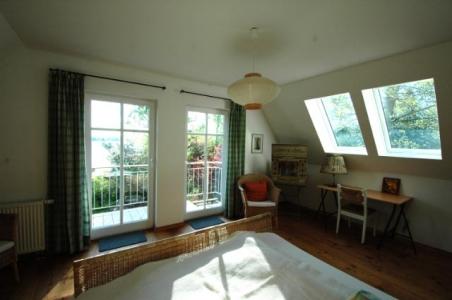 Schlafzimmer kleinerer Hausteil Ferienhaus am Dieksee